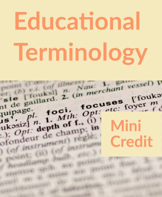 Education Terminology